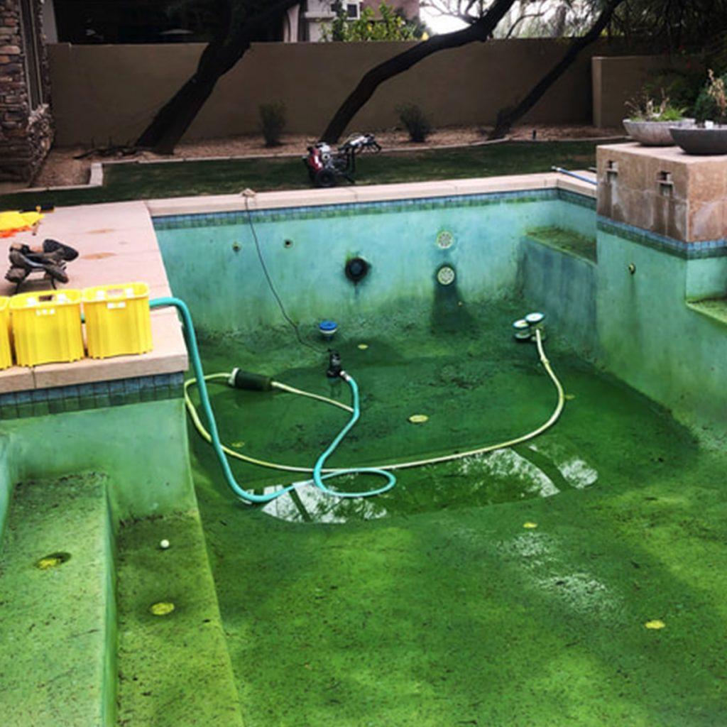 Powerwash & Chlorine Bath Before